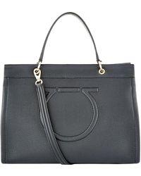 Ferragamo - Leather Meera Tote Bag - Lyst