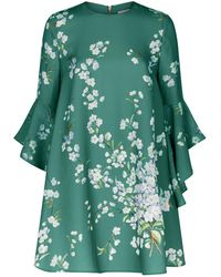 Ted Baker - Graceful Waterfall Sleeve Dress - Lyst