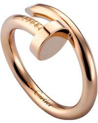 Cartier - Pink Gold Juste Un Clou Ring - Lyst