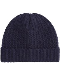 f18d58ab885 Harrods - Cashmere Chunky Knit Hat - Lyst