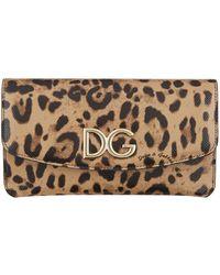 Dolce & Gabbana - Leopard Print Multi-functional Wallet - Lyst