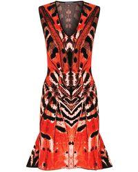 Alexander McQueen - Engineered Butterfly Jacquard Sleeveless Mini Dress - Lyst