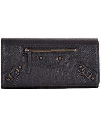 Balenciaga - Classic Money Continental Wallet - Lyst