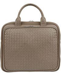 Bottega Veneta Leather Intrecciato Weekend Bag