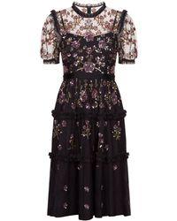 Needle & Thread - Carnation Tiered Sequin Dress - Lyst