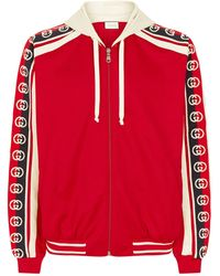 7b66f0d9c Gucci GG Technical Jersey Jacket in Blue for Men - Lyst