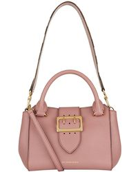 Burberry - Small Buckle Tote, Pink - Lyst