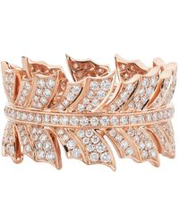 Stephen Webster - Rose Gold Magnipheasant Pav Diamond Ring - Lyst