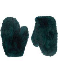 Yves Salomon - Rabbit Fur Gloves - Lyst