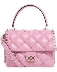 Valentino - Leather Candystud Top Handle Bag - Lyst