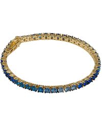 Joolz by Martha Calvo Gold-plated Ombr Tennis Bracelet - Metallic