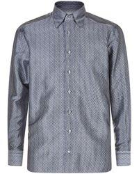 Zilli - Geometric Silk Shirt - Lyst