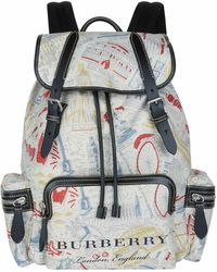 Burberry - London Print Rucksack - Lyst