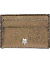 Alexander McQueen - Leather Skull Card Holder - Lyst