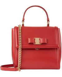 Ferragamo - Small Leather Carrie Bag - Lyst