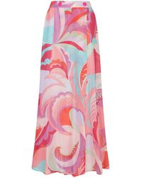 Emilio Pucci - Patterned Maxi Skirt - Lyst