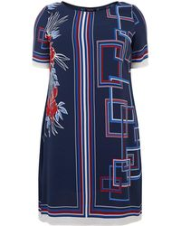 Elena Miro - Geometric Print Dress - Lyst