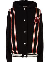 Sandro - Hooded Varsity Jacket - Lyst