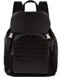 Neil Barrett - Croc Leather Backpack - Lyst
