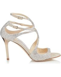 Jimmy Choo - Crystal Ivette Sandals 85 - Lyst