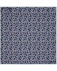Turnbull & Asser - Paisley And Dot Print Pocket Square - Lyst