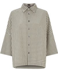 Eskandar - Oversized Check Shirt - Lyst