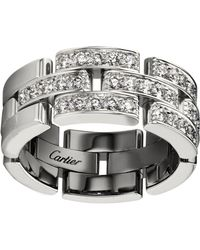 Cartier - White Gold Maillon Panthre Ring - Lyst