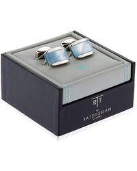 Tateossian - Rectangle Iridescent Cufflink - Lyst