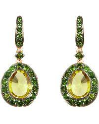 Annoushka White Gold Grey Pave Dusty Diamond Hoop Earrings - Lyst a3ddecffd87