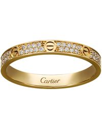 Cartier - Small Yellow Gold Diamond Love Ring - Lyst