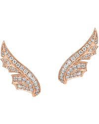 Stephen Webster | Rose Gold And Pav Diamond Magnipheasant Stud Earrings | Lyst