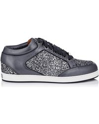 Jimmy Choo - Glitter Panel Miami Trainers - Lyst