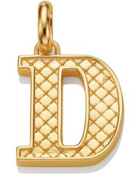 Monica Vinader - Gold Quilted Capital D Pendant - Lyst