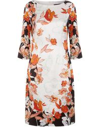 St. John - Floral Shift Dress - Lyst