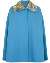 Emilio Pucci - Embellished Collar Cape - Lyst