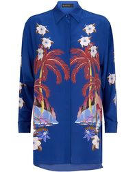 e8ff61a9 Lyst - Stella Jean Hawaiian Button-up Shirt in Blue