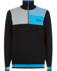 BOSS Green - Colour-block Sweater - Lyst