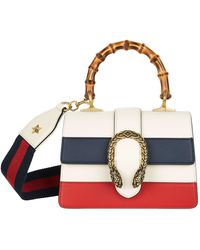 Gucci - Small Striped Dionysus Bamboo Top Handle Bag - Lyst