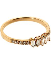 Suzanne Kalan - Baguette White Diamond Ring - Lyst