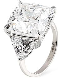 Carat* | Cushion Cut Trilogy Ring | Lyst