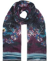 Givenchy - Floral Star Print Silk Scarf - Lyst