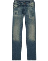 Armani Jeans - Slim Fit Washed Jeans - Lyst