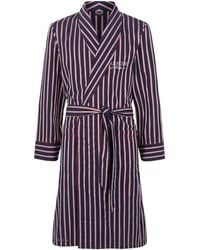 Harrods - Striped Cotton Robe - Lyst