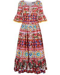 Dolce & Gabbana - Mambo Print Flared Sleeve Dress - Lyst