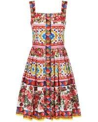 Dolce & Gabbana - Mambo Print Flare Dress - Lyst
