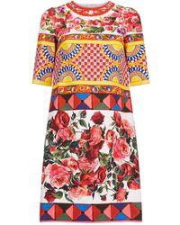 Dolce & Gabbana - Mambo Print A-line Dress - Lyst