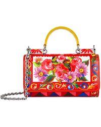 Dolce & Gabbana - Mambo Print Leather Phone Bag - Lyst