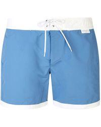 Sandro - Contrast Hem Swim Shorts - Lyst