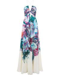 Roberto Cavalli - Pleated Floral Dress - Lyst