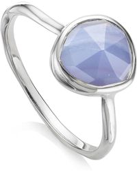 Monica Vinader | Siren Blue Lace Agate Stacking Ring | Lyst